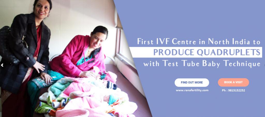 Quaruplets by Test Tube Technique at Rana Fertility